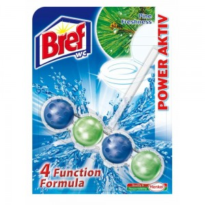 BREF - Power Aktiv kostki do WC - Pine Fresh 50g